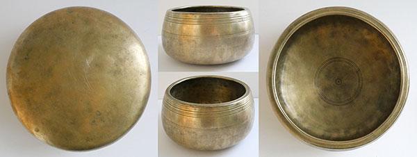 Rare Large & Heavy Antique Mani Singing Bowl – C5 (528Hz)