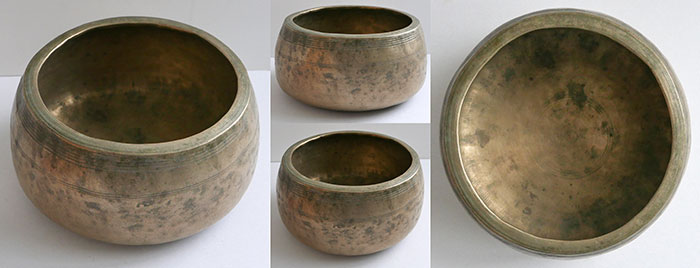 Rare Large Antique Mani Singing Bowl – D5 (575Hz)
