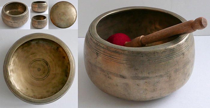 Rare Large Antique Mani Singing Bowl – Eb5 (616Hz)