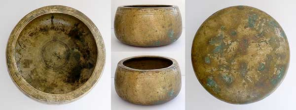 Exceptionally Large and Heavy Antique Mani Singing Bowl – G5 (803Hz)