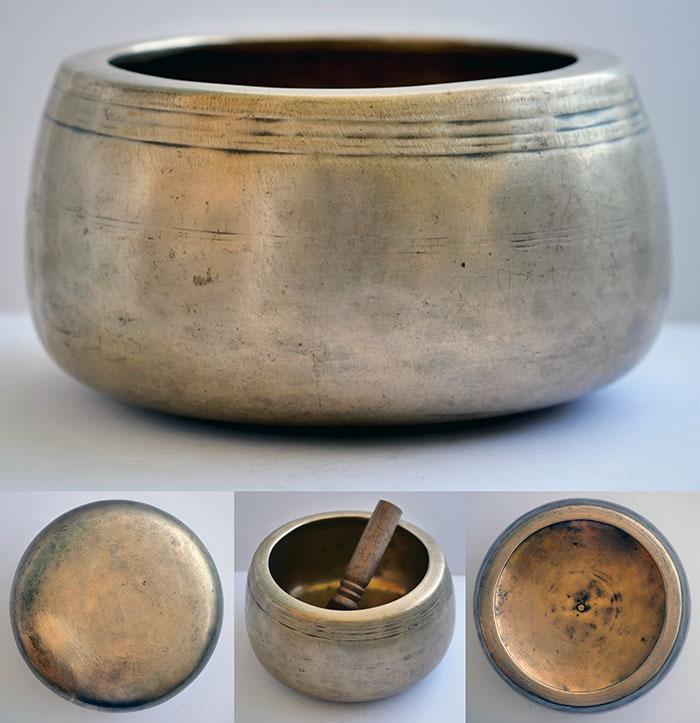 Rare Large & Heavy Antique Mani Singing Bowl – Perfect Pitch F#5 (740Hz)