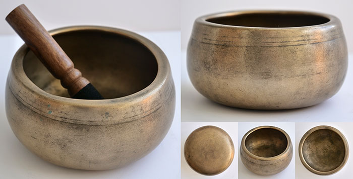 Rare Small Antique Mani Singing Bowl – Powerful C#6 (1086Hz)
