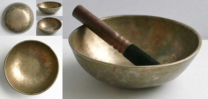 Small Antique Manipuri Singing Bowl – Perfect Pitch F5 (699Hz)