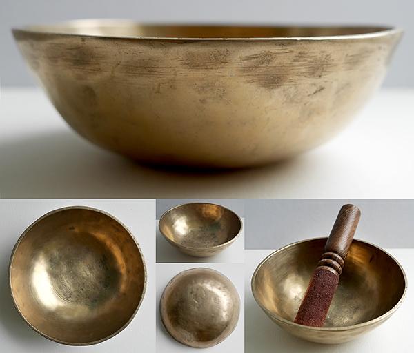 Small Antique Manipuri Singing Bowl – A3 & Eb5