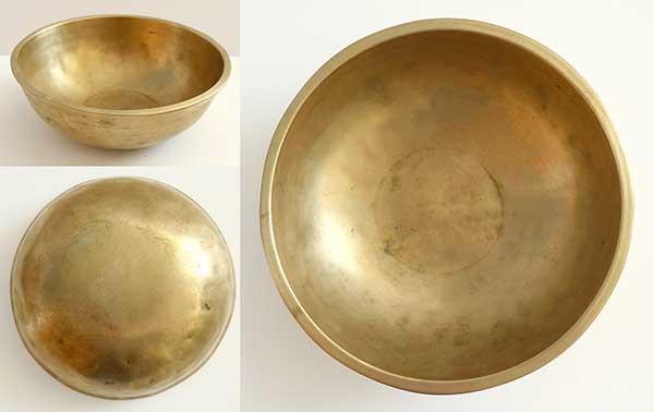 Heavy Medium-Size Antique Manipuri Singing Bowl – Excellent C4 & F#5