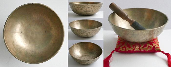 Large Antique Manipuri Singing Bowl – Superb G#4 Voice & Rare Inscription