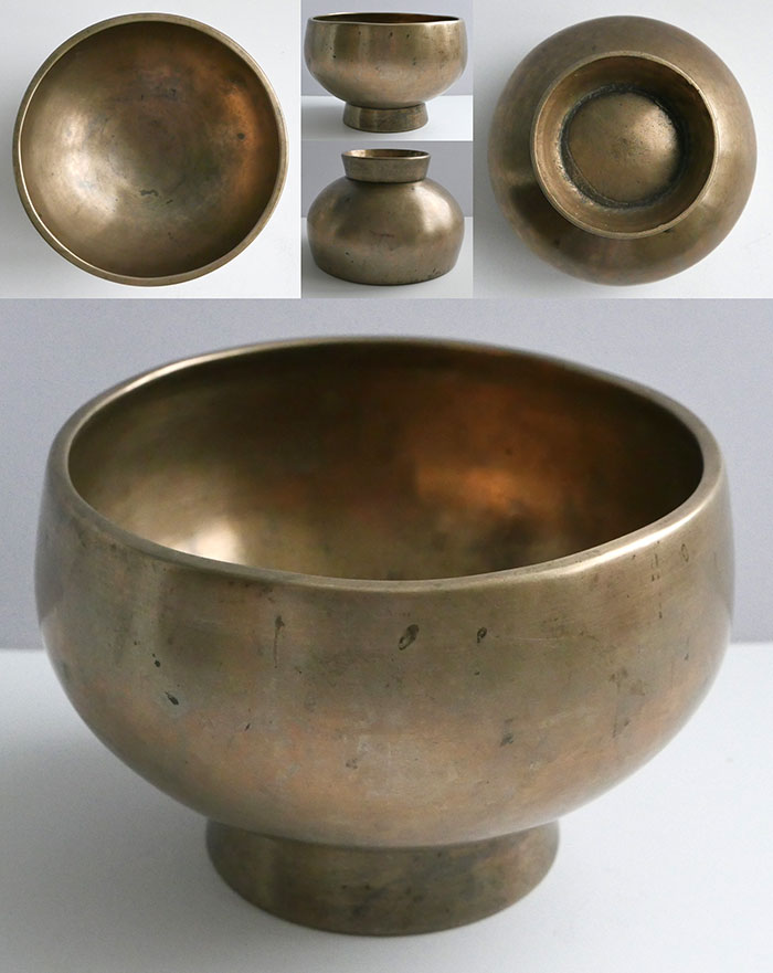 Large Antique Naga Singing and Healing Bowl – Superb E4 & Inscription