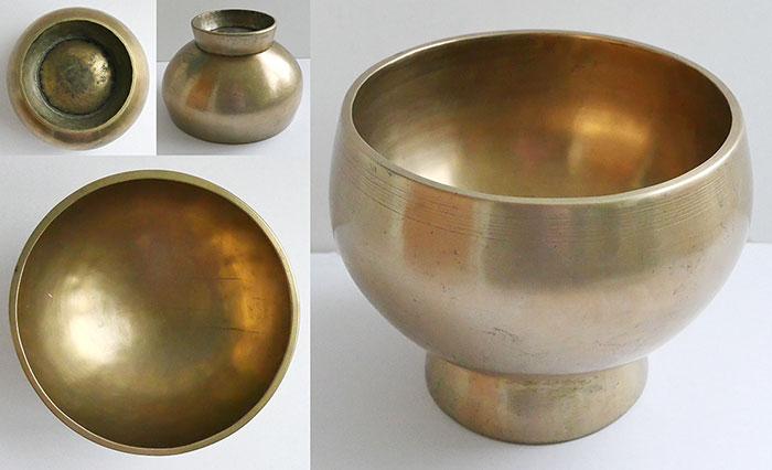 Superlative Large Golden Antique Naga Singing and Healing Bowl – The Best!