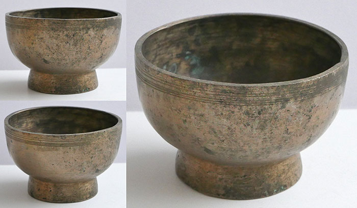 Small Antique Naga Singing and Healing Bowl – 2 perfect Pitch Voices!