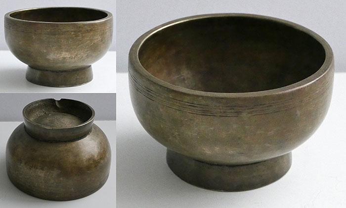 Small Antique Naga Singing and Healing Bowl – F#5 & Inscription