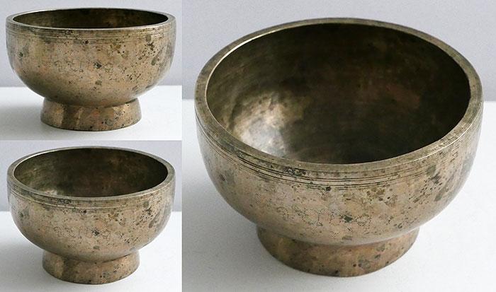 Premium Small Antique Naga Singing and Healing Bowl – E5 & Inscription