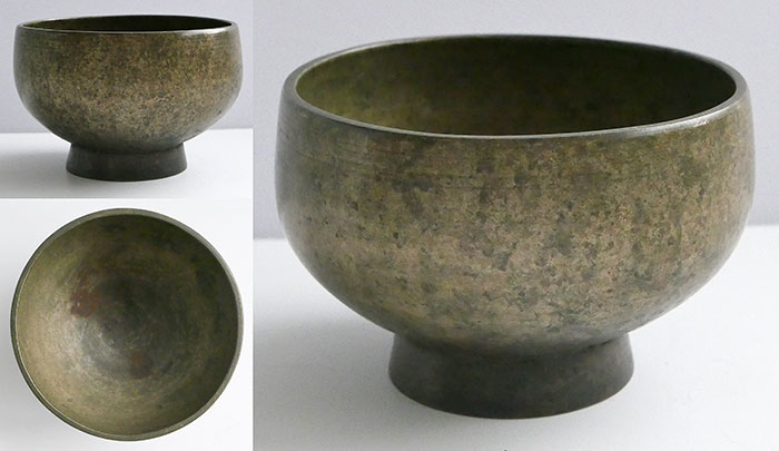 Medium Antique Naga Singing and Healing Bowl – F#4 & B5 – Fabulous Patina