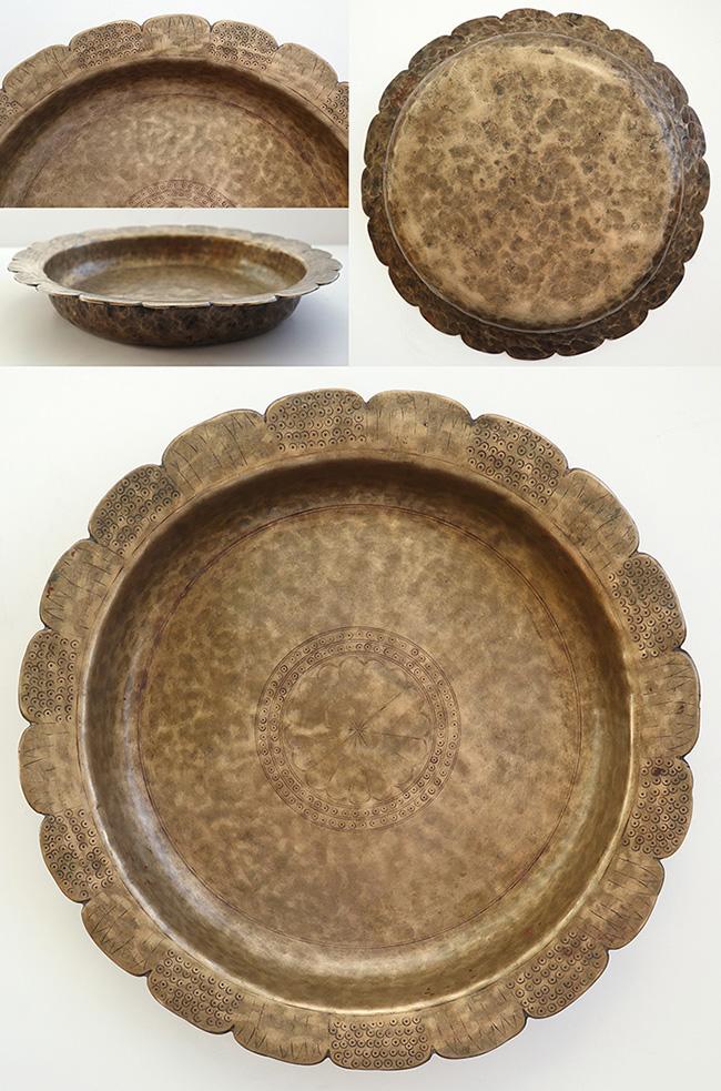 Rare Antique Bronze Ceremonial Offering Plate - Half Price