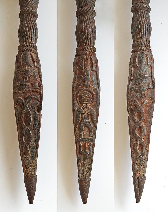 Rare & Intrically Carved Antique Shaman Phurba