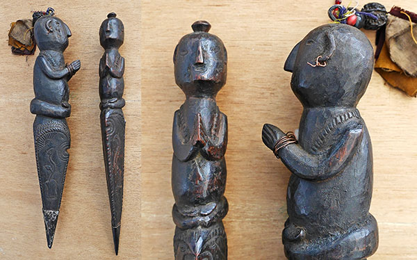 Rare Pair of Antique Shaman Phurbas