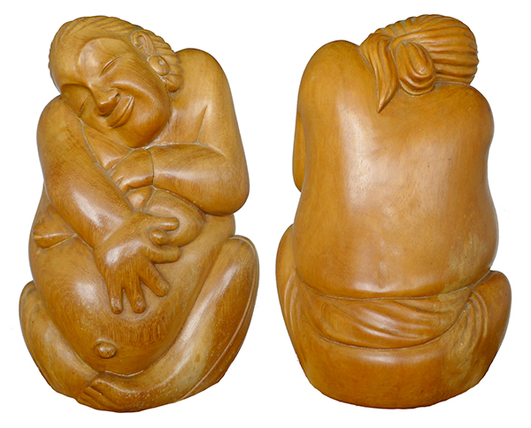 Playful Pregnant Nude (Circa 1970s)