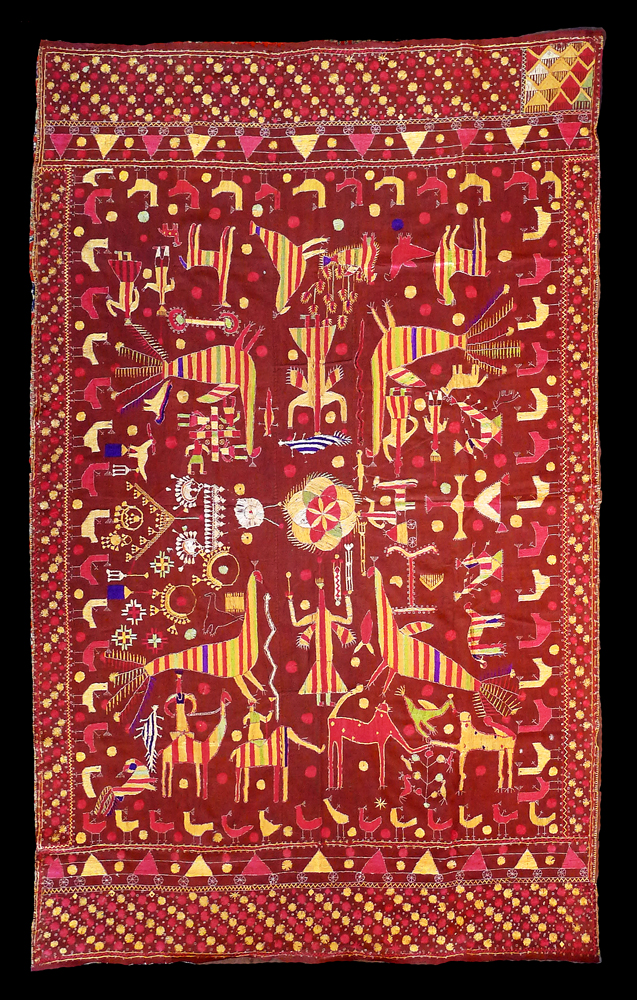 Rare 19th Century Indian Sainchi Bagh Phulkari