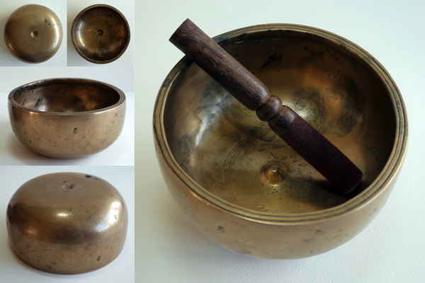 Rare Tibetan Lingam Singing Bowl
