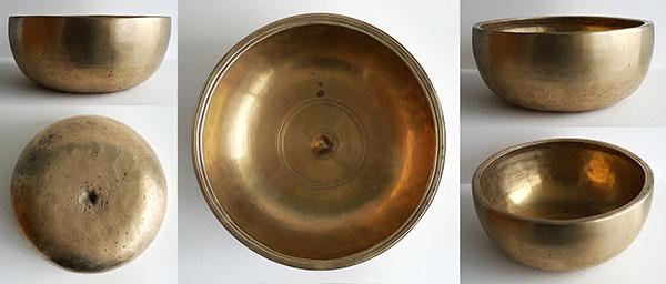 Rare Tibetan Lingam Singing Bowl – Golden Interior