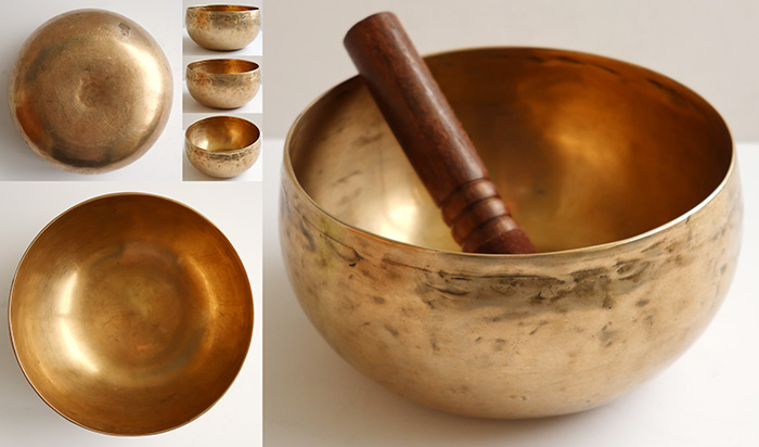 Multi-Harmonic Fine-Walled Antique Remuna Singing Bowl – Bb2 & F4 + B3, D4, E5