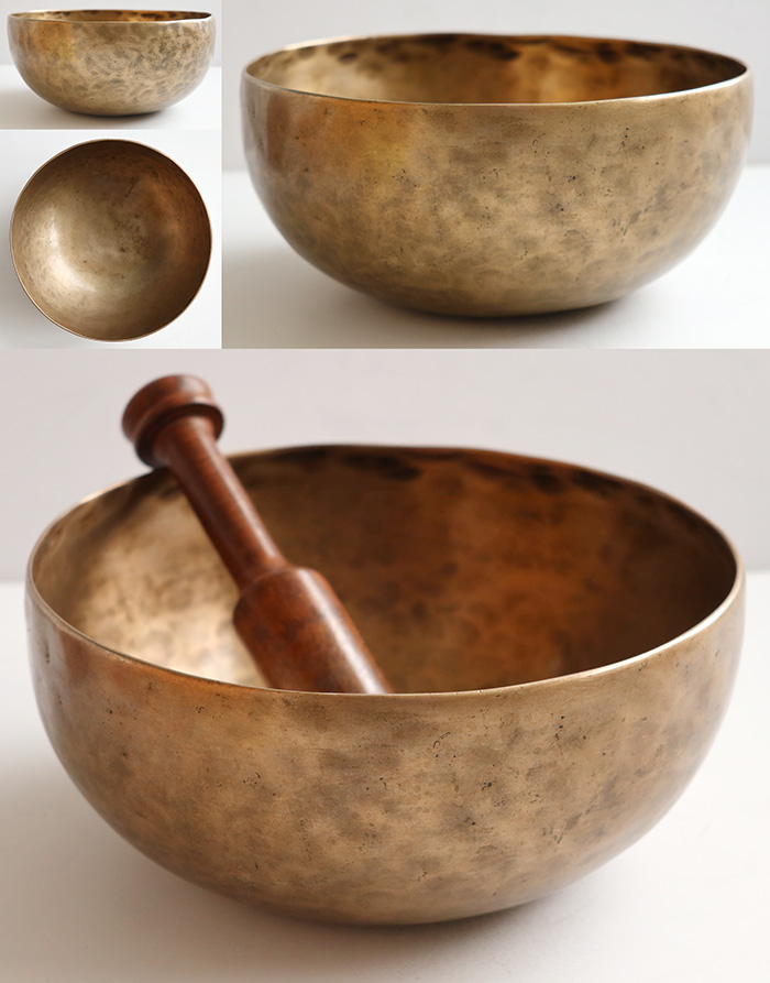 Multi-Harmonic Premium Quality Antique Remuna Singing Bowl – 4 Great Voices!