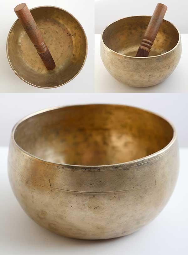 Rare Antique Remuna Singing Bowl – F#3 (186Hz)