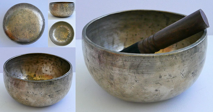 Rare Large Antique Remuna Singing Bowl – Concert Pitch A#3/Bb3 (228-230Hz)