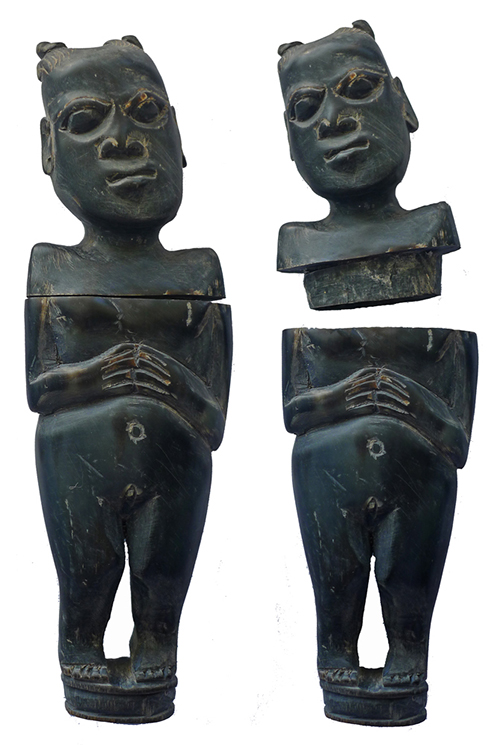 Sasak Buffalo Horn Female Figure - Lombok