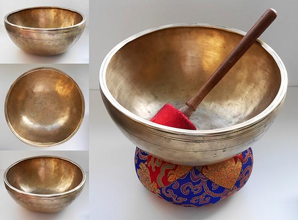 Superb Antique Jambati Singing Bowl – C3 Note & Inscription