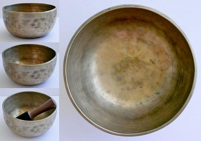 Antique Thadobati Singing Bowl – Concert Pitch Bb3 (233Hz)