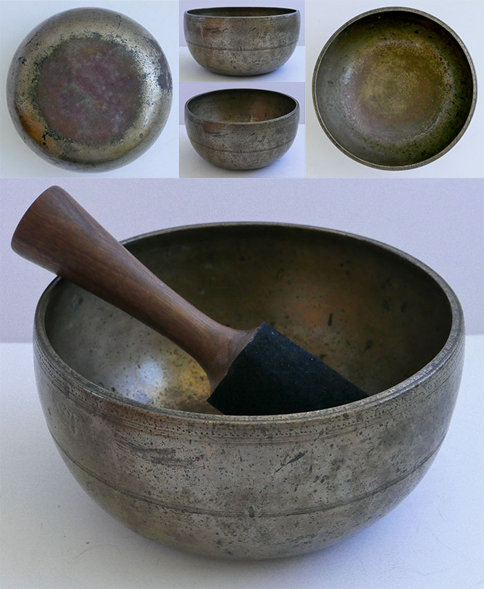 Antique Thadobati Singing Bowl – Fabulous Pulsating A3 (218Hz)