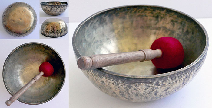 Heavy Antique Hybrid Singing Bowl – Concert Pitch F#3 (184Hz)
