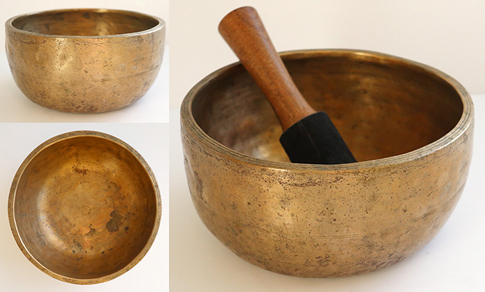 Large Extra Thick Antique Thadobati Singing Bowl – E4 (337Hz)