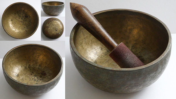 Large Thick Antique Thadobati Singing Bowl in 'As Found' Condition