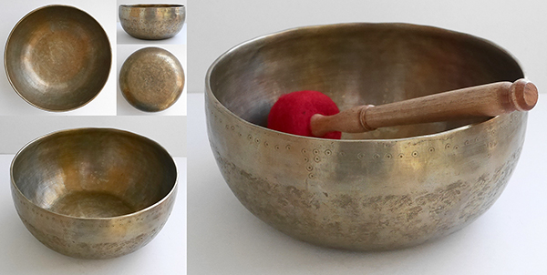 Huge Thadobati Singing Bowl of Uncertain Age – Low Bb2 & Concert Pitch E4