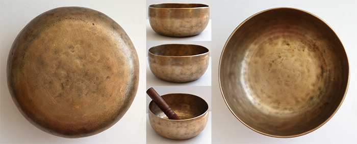 Antique Thadobati Singing Bowl – F#3 (189Hz) & Powerful C5 (524Hz)