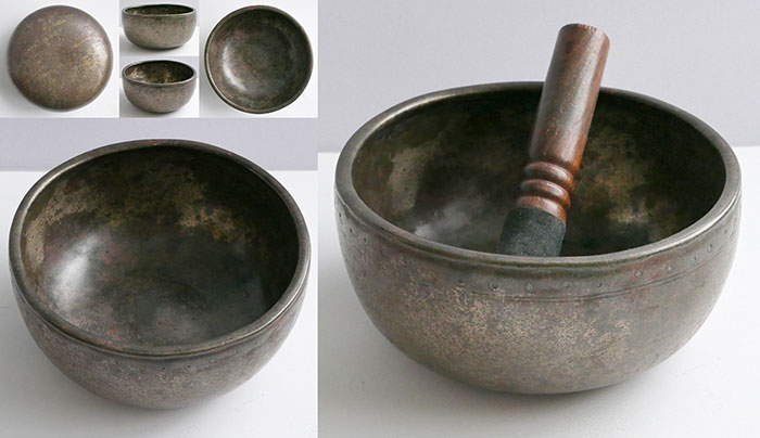 18th Century Thadobati Singing & Talking Bowl in 'As Found' Condition – F4 (358Hz)