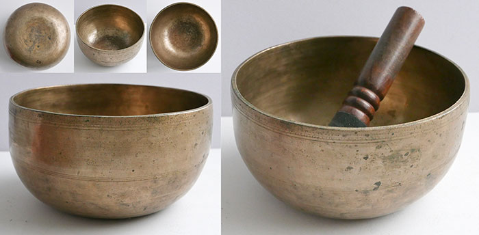 Antique Thadobati Singing & Talking Bowl – 2 Concert Pitch Voices & Long Sustain