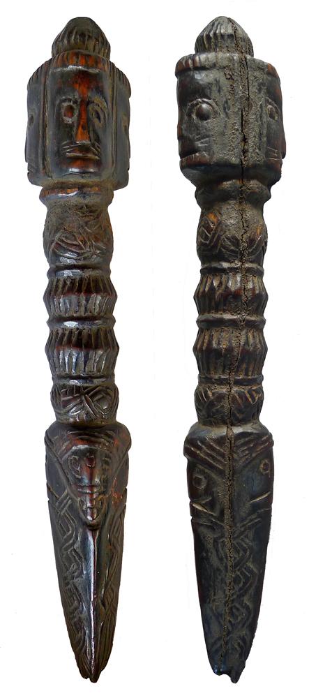 Tibetan Tiger-Face Phurba (25cm/10 inches)