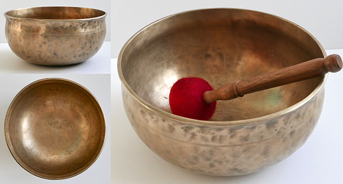 Antique Golden Ultabati Singing Bowl – Concert Pitch B2