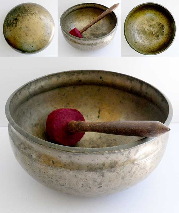 Rare Antique Ultabati Singing Bowl – Perfect Pitch C#3 (139Hz)