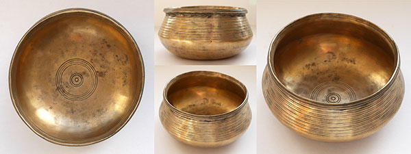 Unusual Antique Singing Bowl – B4 Note (484Hz)