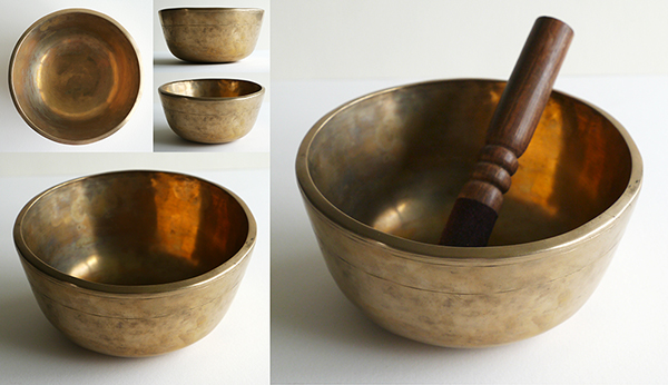 Unusual Flowerpot Shape Tibetan Thadobati Singing Bowl