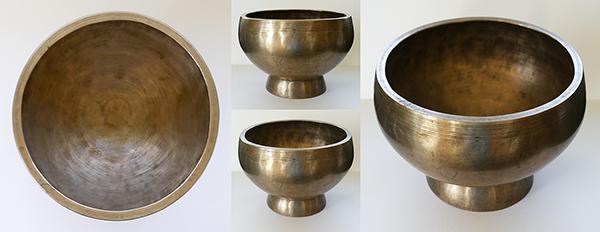 Very Large & Heavy Naga Singing Bowl – F#4 Note & Inscription