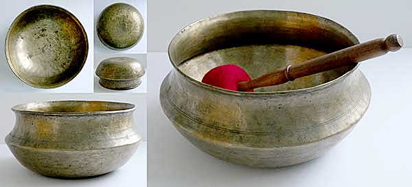Rare & Extraordinary Large Antique Singing Bowl – F#3 (182Hz)