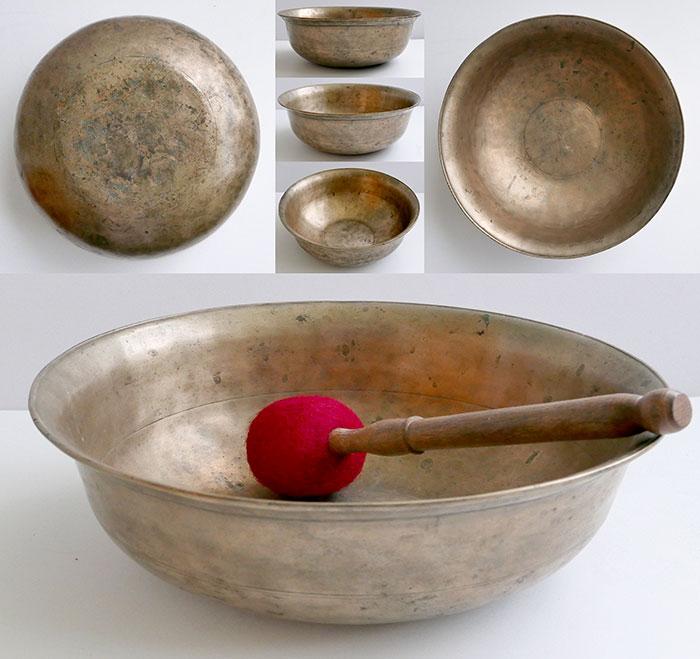 Large Rare Antique Singing, Talking & Fountain  Bowl – Unique Form & Concert Pitch