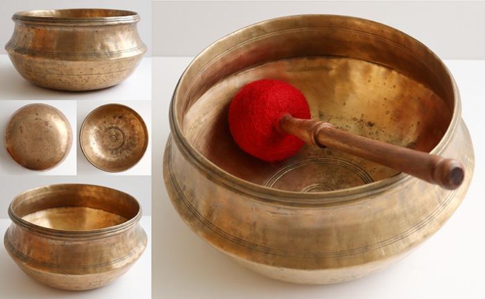 Fabulous Large And Rare Antique Striking Bowl – Bb3 to B3 (239-253Hz) – Unique Voice