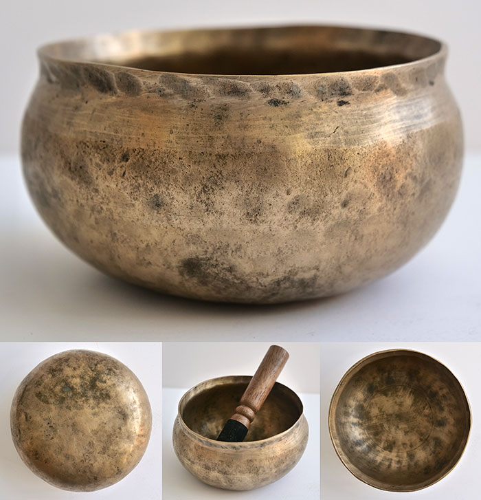 Rare Tiny Antique Singing Bowl – F#5 (747Hz)