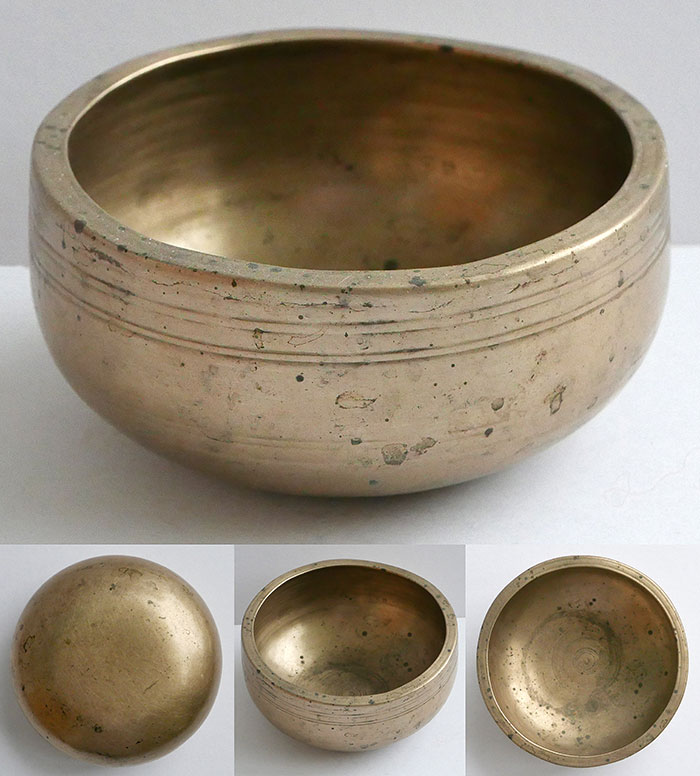 Unusual Tiny Antique Singing Bowl – G5 (806Hz)