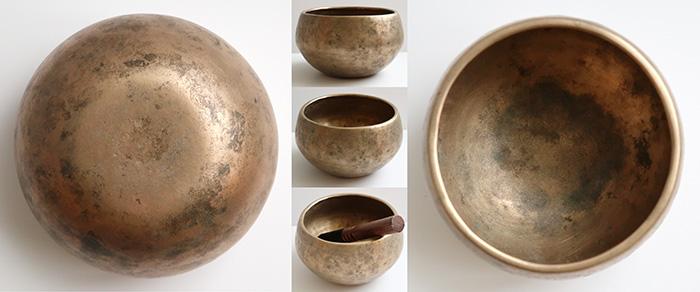 Unusual Small Antique 'Genie' Singing Bowl – Self-Amplifying D5 (596Hz)